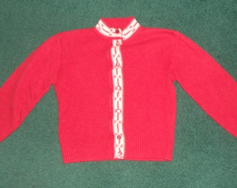 70s Kids Hipster Cardigan Sweater SIZE 6X
