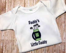 Baby Golf Shirt - Baby Shower Gift for Dad - Father's Day Gift - Pregnancy Announcement - New Baby Gift