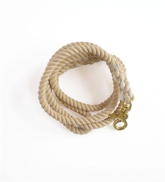 Rope Dog Leash, SALE : Fawn, Medium