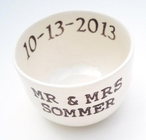 Personalised Wedding Gift Ring Dish : ring dish bridal shower gift wedding gift wedding ring holder custom ...