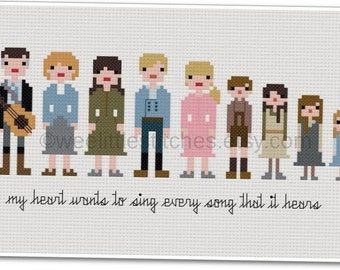 The Sound of Music - The *Original* Pixel People - PDF Cross-stitch Pattern - INSTANT DOWNLOAD