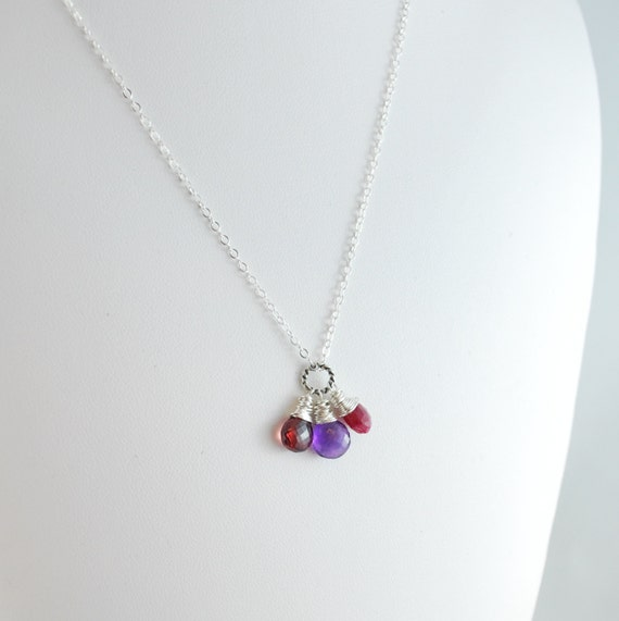 child 39 s necklace birthstone jewelry genuine gemstone. Black Bedroom Furniture Sets. Home Design Ideas