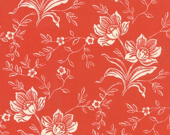 Somerset - Hand Carved in Poppy by Fig Tree & Co for Moda Fabrics-Last Yard