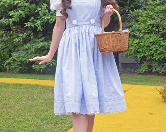 Wizard of Oz Dorothy Dress, Custom made costumes, Dorothy Costume, Ladies Dorothy Costume, Wizard of Oz Costumes, Screen Quality Costumes