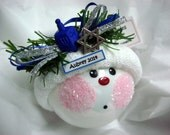 First Hanukkah Gift Ornament Blue Dreidel Jewish Star Townsend Custom Gifts Personalized with Handmade Name Year Tag Sample