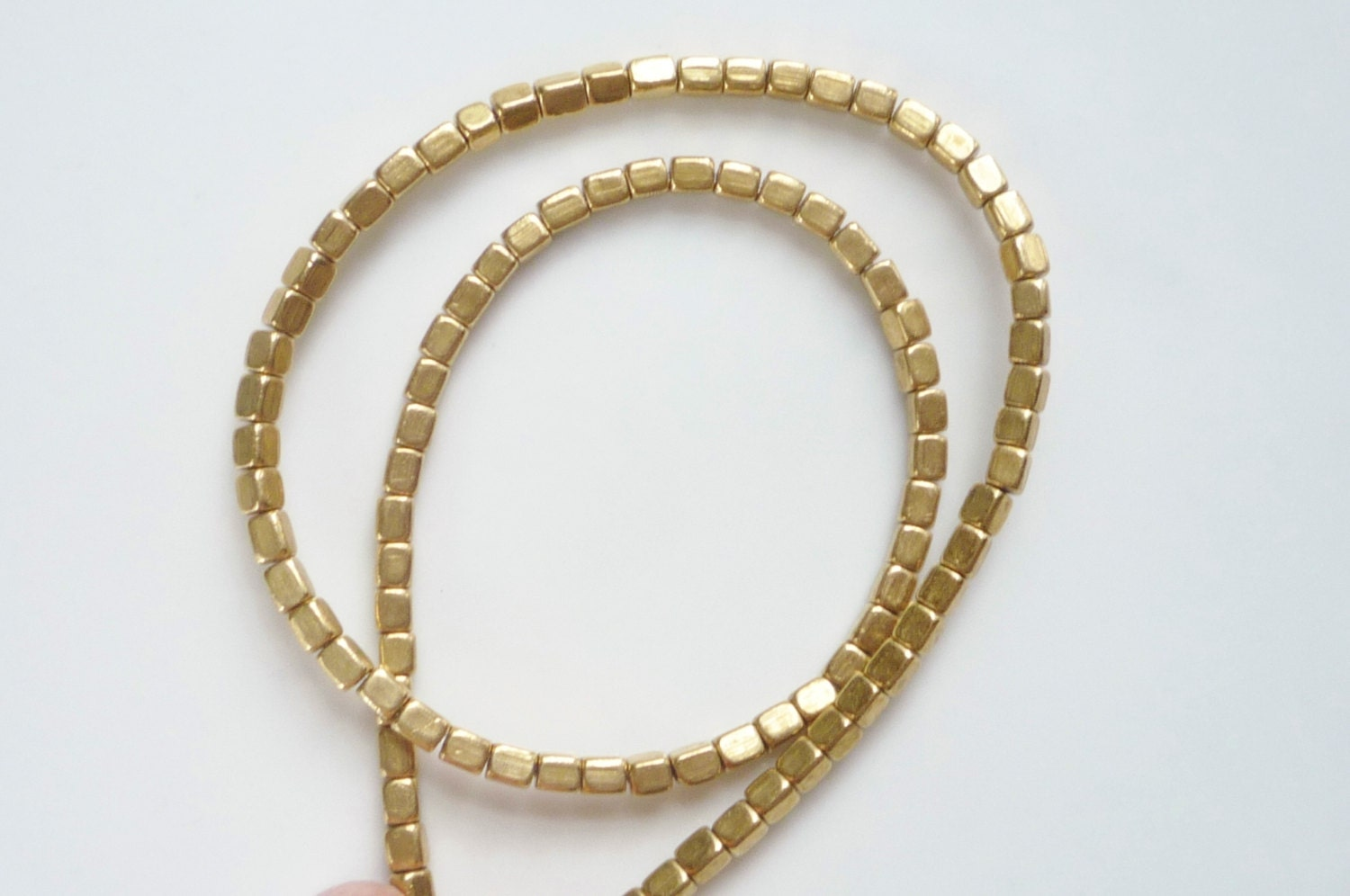 Gold plated brass rectangle tube beads spacer bead mm