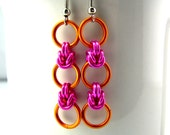 CLEARANCE Daisy Chain Chainmaille Earrings