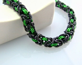 ON SALE Monkshood Chainmaille Bracelet - Morte Collection