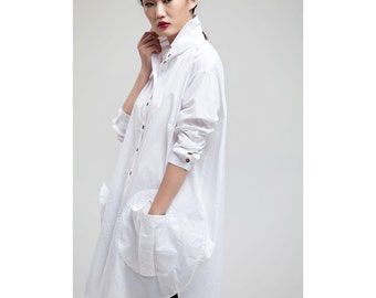 Free Style / Flower Bud Linen Long Shirt 35 Colors/ RAMIES
