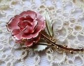 Blush Blossom Pearlized Shabby Chic Rose Brooch