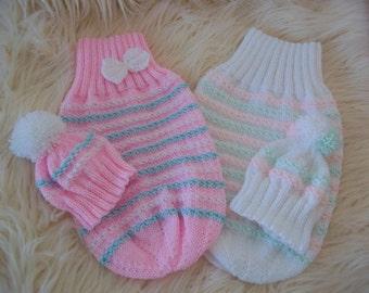 Baby Knitting Pattern  - Download PDF Knitting Pattern -  Baby or Reborn Dolls Cocoon & Hat Set -  Instant Download Knitting Pattern