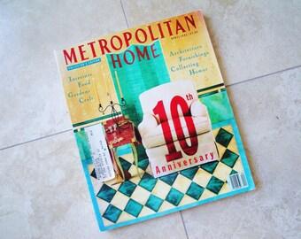 Vintage Metropolitan Home 1991 April Collector's Edition Magazine