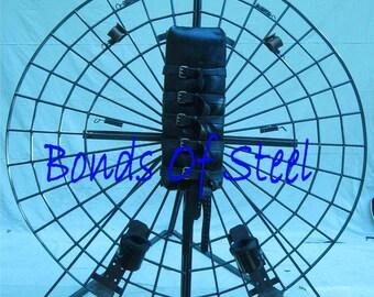 Spinning BDSM Bondage Wheel Dungeon Furniture Bonds of Steel Mature St Andrews