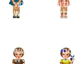 Digital images of paper doll C - Instant Download