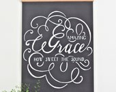 Amazing Grace  - Large canvas wall hanging