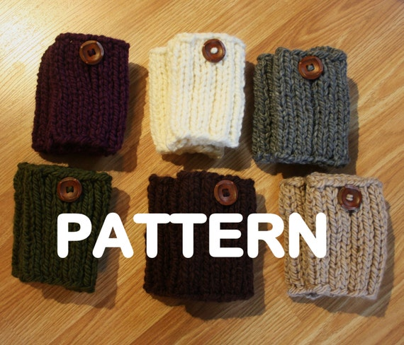 Knitting Pattern Chunky Bed Socks : Items similar to PDF PATTERN Chunky Knit Boot Sock Cuffs - Boots Toppers - Le...
