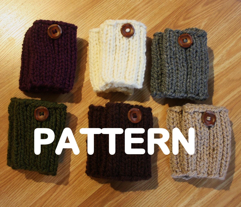 Knit Boot Socks Pattern : PDF PATTERN Chunky Knit Boot Sock Cuffs Boots Toppers Leg Etsy
