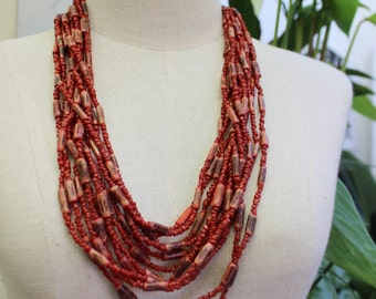 Coconut Shell Beads Necklace - CL1409-01