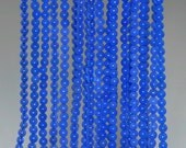 """3mm Blue Agate Round beads full strand 16"""" Loose Beads P142694"""