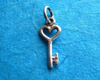 Sterling Silver Key Pendant Charm