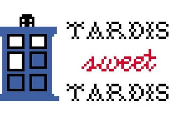 TARDIS Sweet TARDIS PDF Cross Stitch Pattern