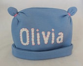The Olivia - Custom baby/children's hat-name
