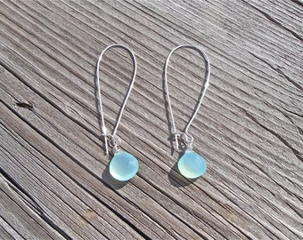 Aqua Chalcedony Earrings  - Gift for Her - Mother's Day Gift