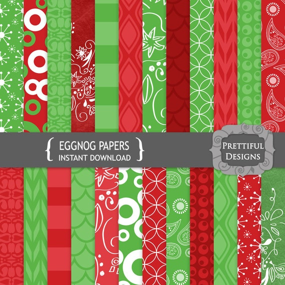 50% off SALE Digital Christmas Scrapbooking Papers - Christmas (766)