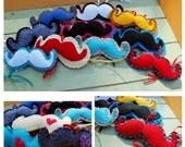 Moustache Multicolored Felt Ornaments