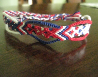 USA - Patriotic Fancy Diamond Friendship Bracelet