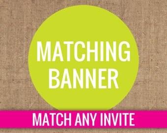 Matching Banner - DIY Printable