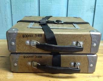 Film Reel Case Shipping Box Vintage Movie Film Storage Boxes CastawaysHall
