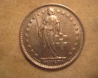 1968 Switzerland 1 Franken Coin
