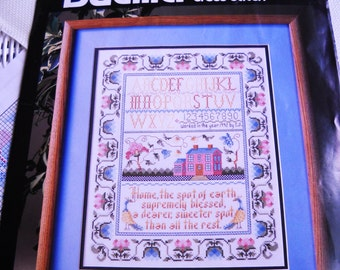 Bucilla counted cross -stitch sampler  no place like home