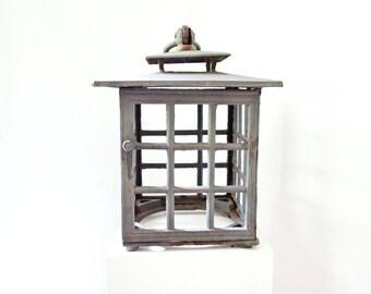 Vintage Outdoor Hanging Lamp  /  Architectural Remnant  / Garden Decor