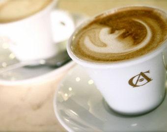 Cappuccino Print - Coffee Photography - Rome Italy Photo - Italian Cafe Art Food Photography Kitchen Art Neutral Home Decor Espresso