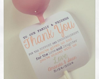 Cake Pop Thank You Note