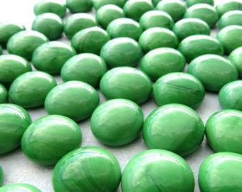 Bright Green Mini Glass Gems Mosaic Tiles - 50 - Flat Back Marbles Vase Fillers Home Decor