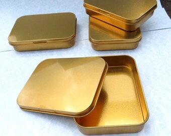 Copper Tin with Lid - Use for your Pendants Magnets Favors and other Gifts and Goodies - Set of 100