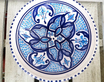 Mediterranean Hand-Painted Ceramic Bowls set of 5