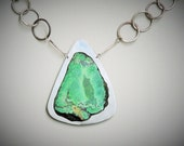 Chinese Turquoise and Raw Citrine Necklace