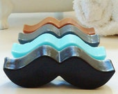 20 BULK MUSTACHE SOAPS - Choose Scent & Color, diy party favors, baby shower, birthday, boys, kids, men, little man, wedding