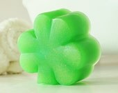 SHAMROCK SOAP - St. Patrick's Day, Irish, gold, 3 leaf clover, 4 leaf clover, green, gold, celtic, paddy