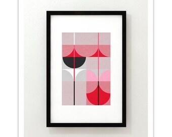 FLAMINGO no.1 - Giclee Print - Contemporary Modern Art Print