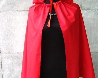 Red Riding Hood cloak in red