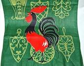 Rooster Linen Tea Towl