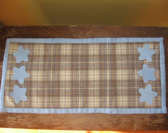 Clearance Starfish Beach Cottage Home Decor Table Runner Wool Applique Handmade JKB