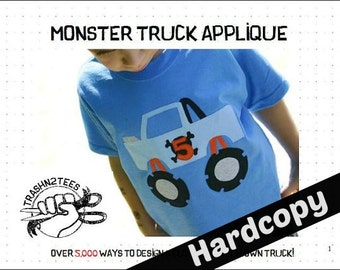Build Your Own Monster Truck Sewing Pattern (Physical Copy) by TrashN2Tees