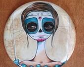 isabel . Dia de Los Muertos pocket mirror