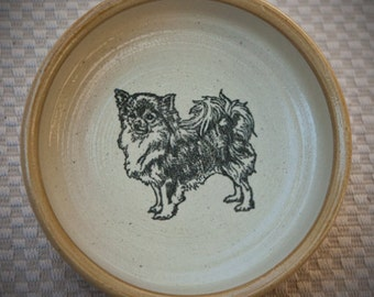 Chihuahua, Longhaired - Bowl in Tan (Small)